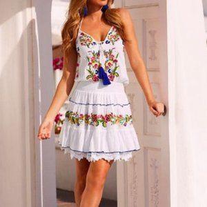 Boston proper embellished halter dress GUC Size XL